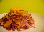 red cabbage, fennel & mandarin salad
